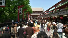 Stock Video Footage of Crowd Asakusa Tokyo FastMotion 01