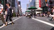 Stock Video Footage of Crowd Ginza Tokyo SlowMotion 60fps 22