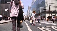 Stock Video Footage of Crowd Ginza Tokyo SlowMotion 60fps 23