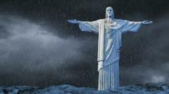 Jesus Storm Blue Stock Footage