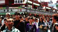 Stock Video Footage of Crowd Tokyo Asakusa SlowMotion 60fps 04