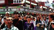 Crowd Tokyo Asakusa SlowMotion 60fps 04 Stock Footage