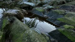 Stream rockpool 1 140112 Stock Footage