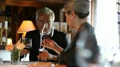 Mature/Senior couple in love having dinner; Full HD Photo JPEG - stock footage