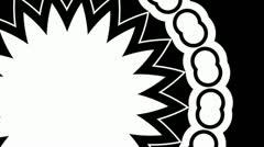 Seamless Fractal Kaleidoscope - luma matte/seamless loop - stock footage