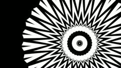 Fractal Kaleidoscope spinning - loop/luma matte - stock footage