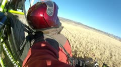 Pilot ultralight aircraft after landing P HD 034-2 Stock Footage