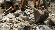Loader Excavator Removing Debris (HD) Stock Footage