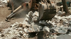 Loader Excavator Demolition Site HD Stock Footage