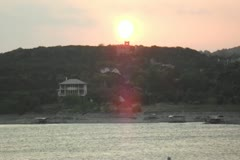 lake travis sunset - stock footage