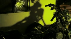Motorcycle Shadow Stock Footage