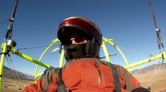 Pilot aircraft ultralight aerial shot P HD 023-1 Stock Footage