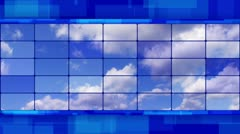 Clouds on screens blue loopable background Stock Footage