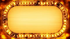 golden casino neon banner loopable - stock footage