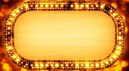 Golden casino neon banner loopable Stock Footage