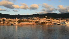 Beautiful sunrise of Sicily Stock Footage