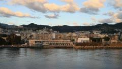 Beautiful landscape of Sicily at sunrise Stock Footage