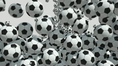 Soccer balls - stock footage