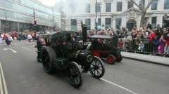 Steam engines in London Parade Stock Footage