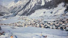 Wiev from Funicular Livigno, Italy Stock Footage