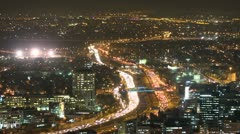 Tel Aviv night view traffic 6 Stock Footage