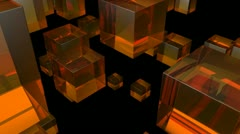 Orange glass Stock Footage
