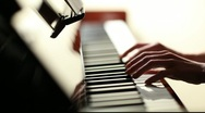 Stock Video Footage of Playing piano