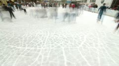 Crowd of ice skaters Stock Footage