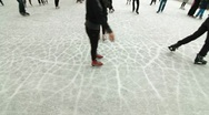 Ice-skating Stock Footage