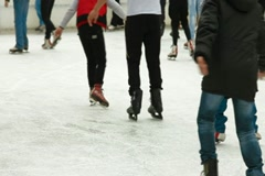 People at Ice Rink Stock Footage