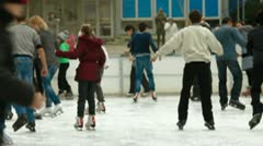 Leaning Ice-skating Stock Footage