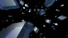 Blue cube Stock Footage