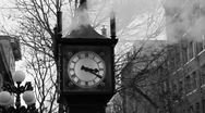 Stock Video Footage of Steam clock.