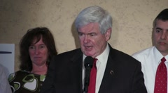 Newt Gingrich Talks About The Banking System Stock Footage