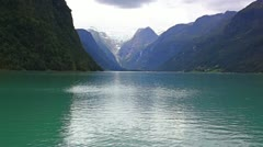 Norway fjord view - stock footage