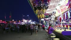 Carnival midway Stock Footage