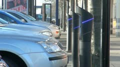Electric Car Charging Points - stock footage