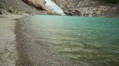 Briksdal glacier Stock Footage