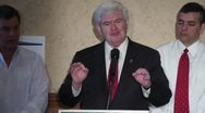 Newt Gingrich Talks About The Housing Market Stock Footage
