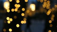 Defocused holiday lights. - stock footage