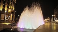 Fountain on the City Square Stock Footage