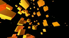 Yellow cube Stock Footage