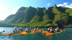 Stock Video Footage of kayaking on the north shore of kauai, hawaii