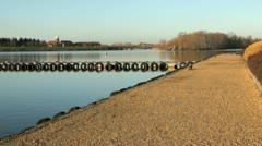 Caldecotte Lake, Milton Keynes Stock Footage
