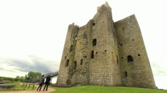 Castle with Blown Out Sky, Ireland GFHD Stock Footage