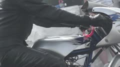 DRAGRACING-063 MOTORCYCLE Stock Footage