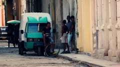 Cuba Old Havana Street Life 3 , Color Graded - stock footage