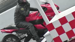 DRAGRACING-073 RED MOTORCYCLE Stock Footage