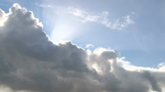 Heavenly Clouds and Sun Stock Footage