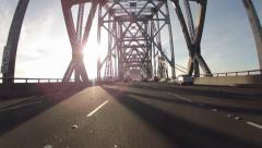 Time Lapse Driving across the SF Bay Bridge Stock Footage
